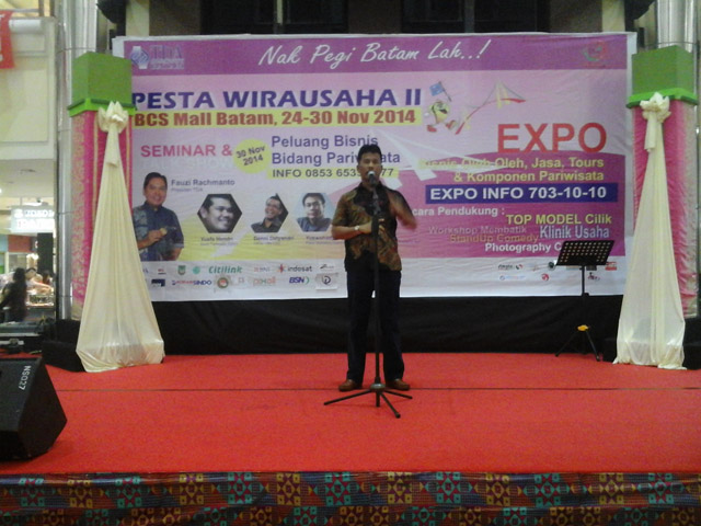 Peresmian Pesta Wirausaha Batam oleh Wakil Walikota Batam