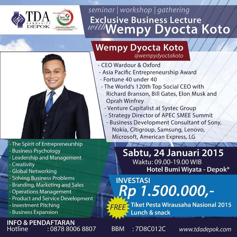 Depok Forum with Wempy
