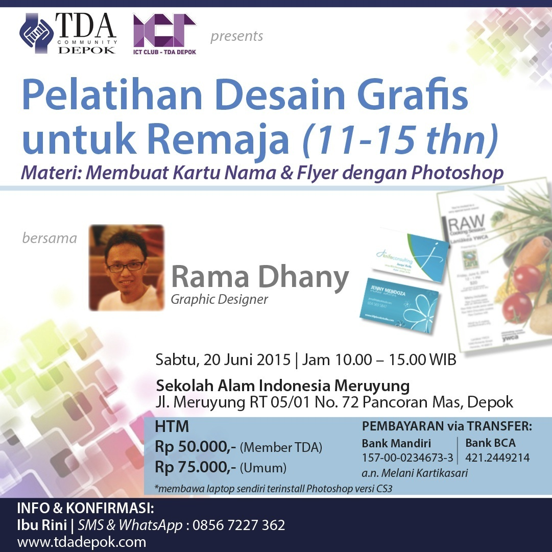 20 Juni 2015 - Pelatihan Desain Grafis Untuk Remaja - TDA Depok