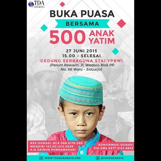 Pamflet Bukber 500 Anak Yatim