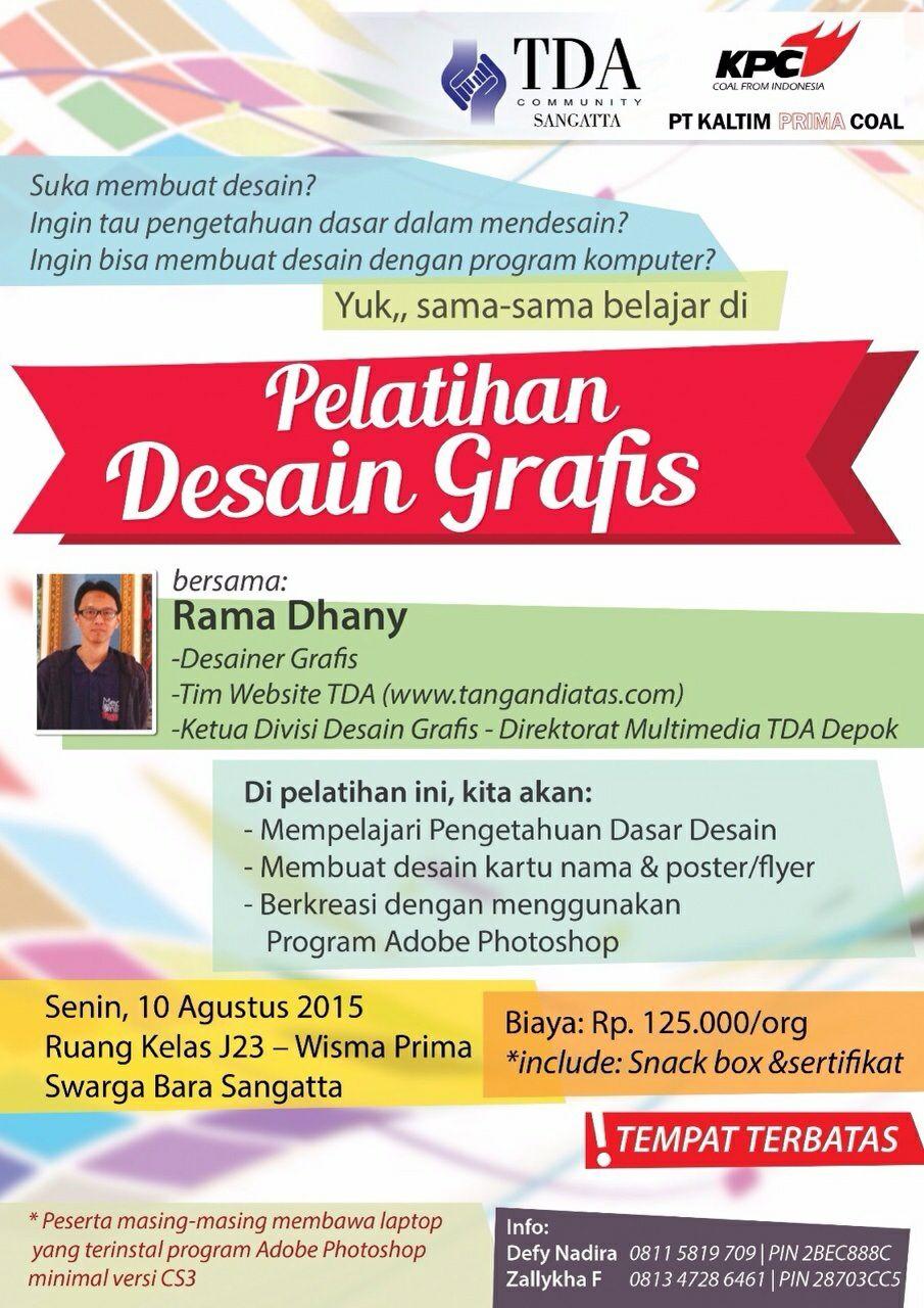 Pelatihan Design Grafis TDA Sangatta