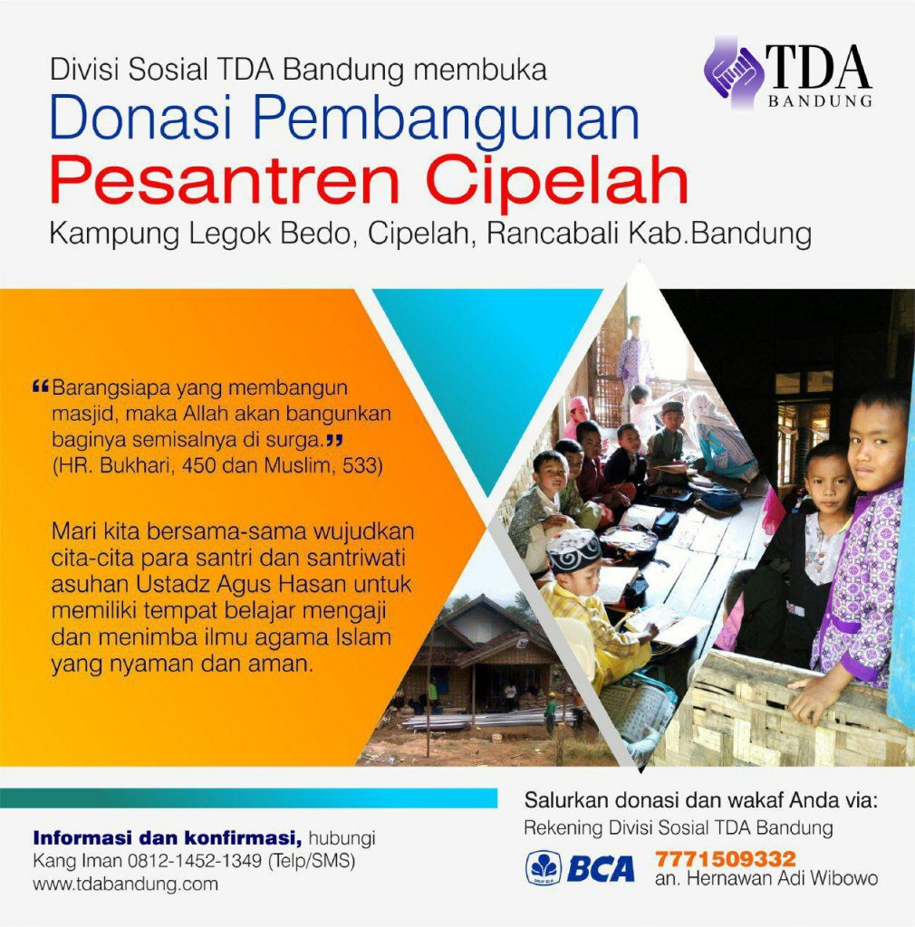 TDA Bandung Bangun Pesantren