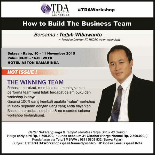 Workshop-TDA-Samarinda