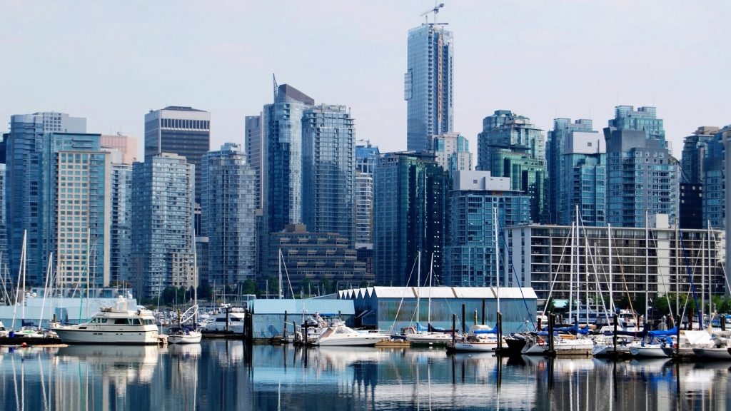 High Rise Buildings in Downtown Vancouver, Canada