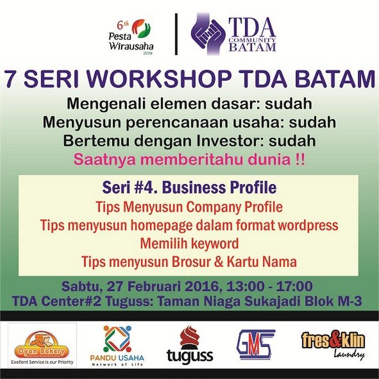 7 Seri Workshop Sesi 4 tda batam