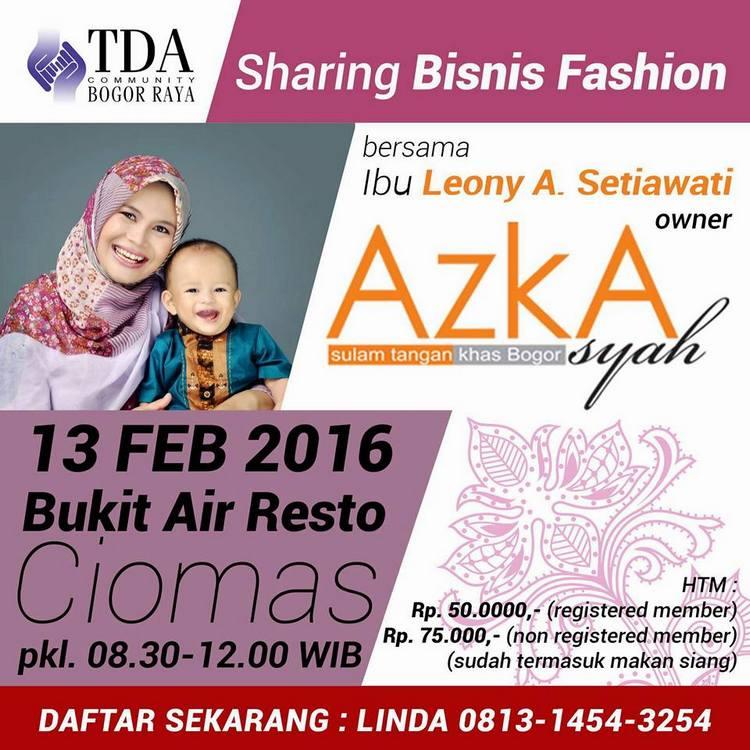 TDA Sharing Fashion Azkasyah
