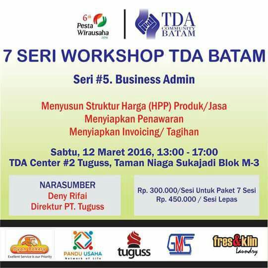 TDA Batam Wshop Series