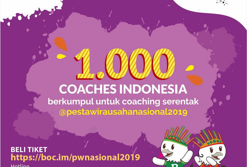Ada 1000 Coaches & Investor di Pesta Wirausaha Nasional 2019