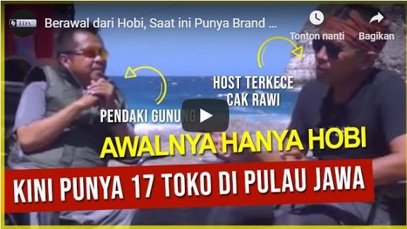 Berawal dari Hobi, Saat ini Punya Brand dengan 17 Toko di Indonesia – Budi Santoso Di Kejar Cak Rawi