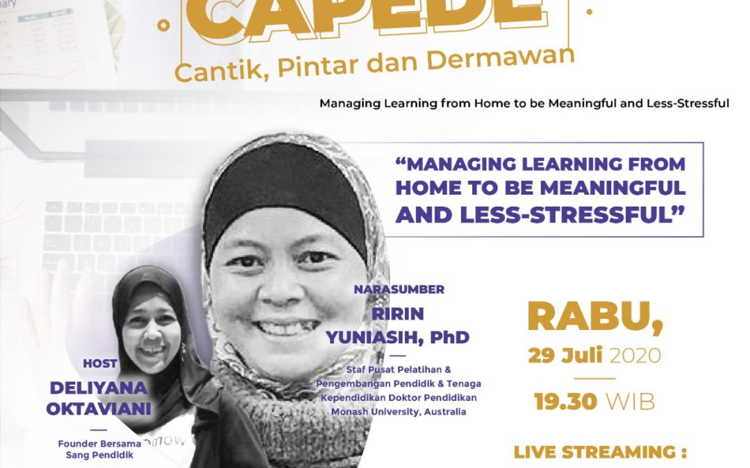 CaPeDe: How to Managing Learning From Home to be Meaningful & Less Stressful