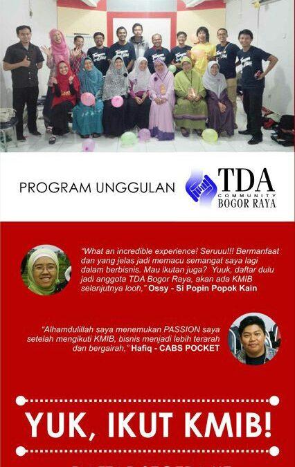 19 – 21 Desember 2014 Kelompok Mentoring Inspirasi Bisnis – TDA Bogor Raya Forum