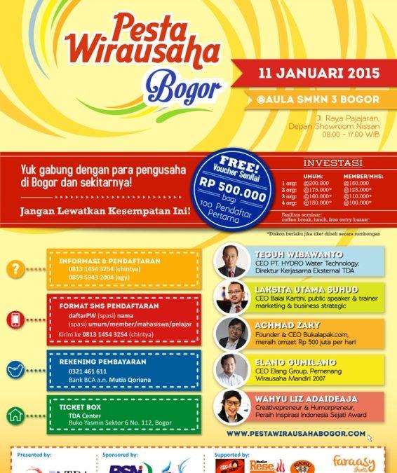 11 Januari 2015 Pesta Wirausaha TDA Bogor Raya – Pesta Wirausaha TDA 15 Kota di Indonesia