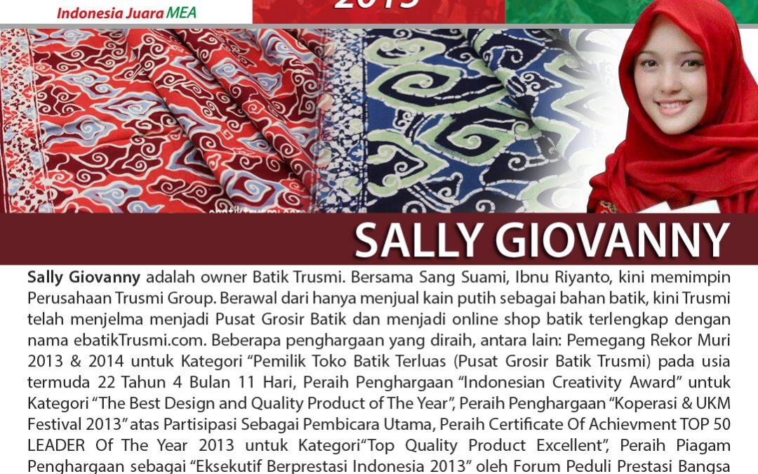 Belajar Kiat Sukses Sally Giovanny Owner Batik Trusmi di Pesta Wirausaha Nasional TDA 2015