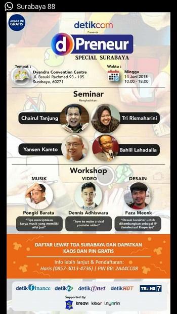 14 Juni 2015 D'Preneur Special Surabaya – TDA Surabaya Kolaborasi