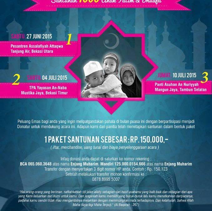 27 Juni 2015 Iftar Peduli, Buka Puasa Bersama 1000 Anak Yatim dan Dhuafa – TDA Bekasi Forum