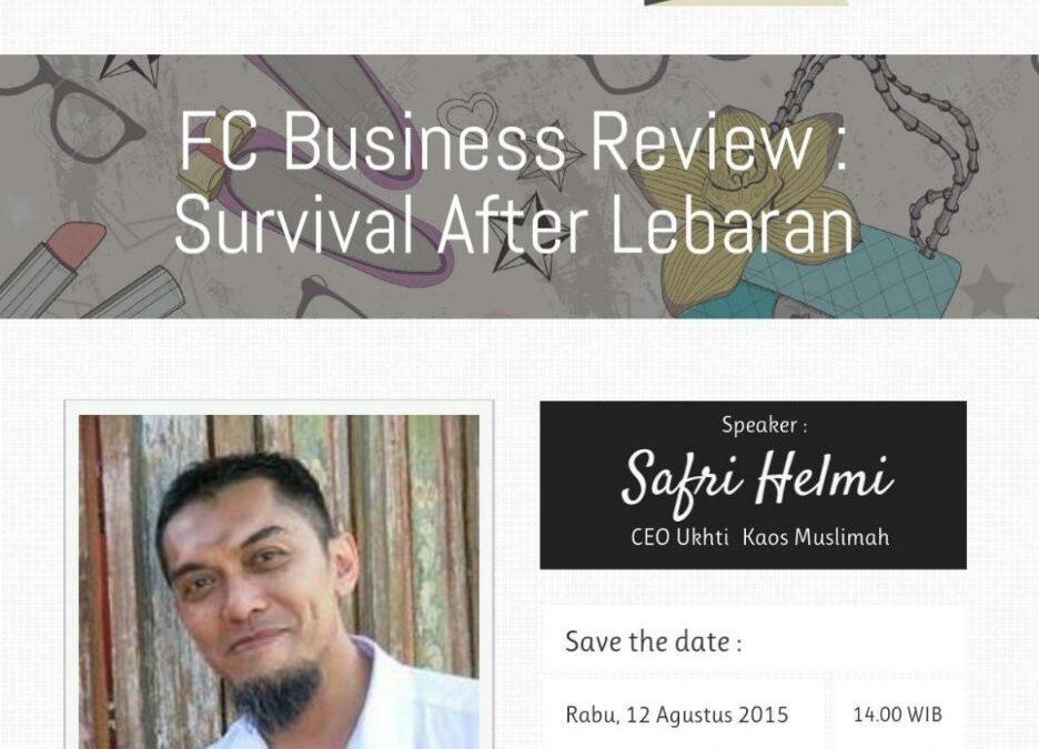 12 Agustus 2015 Fashion Club Seminar 'Bertahan Setelah Lebaran' – TDA Depok Forum
