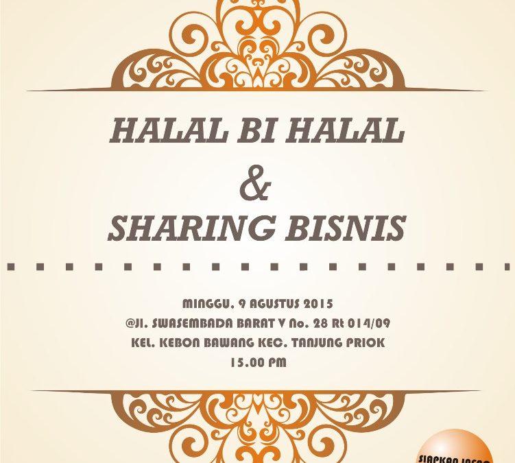 9 Agustus 2015 Halal Bi Halal dan Sharing Bisnis – TDA Jakarta Utara Forum