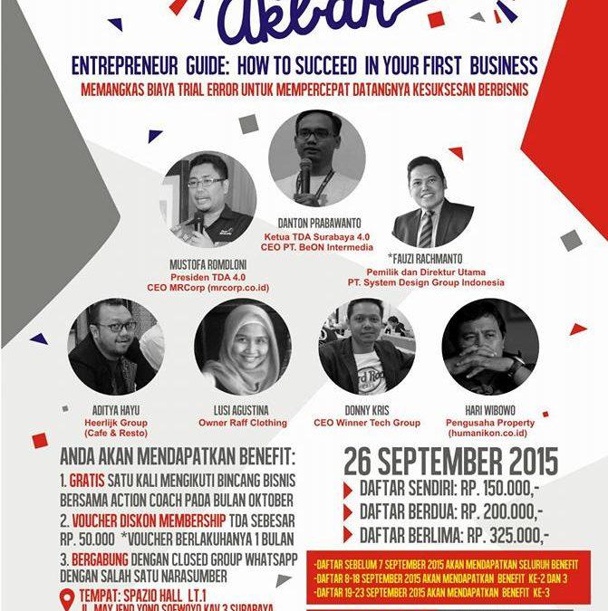 26 September 2015 Cangkruk Akbar – TDA Surabaya Forum