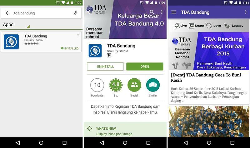 TDA Bandung Luncurkan TDA Bandung App (Android)