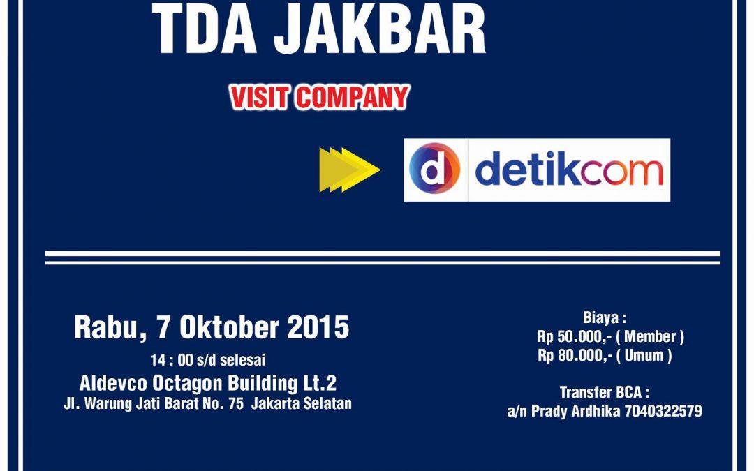 TDA Jakbar Bertandang ke Detik.com