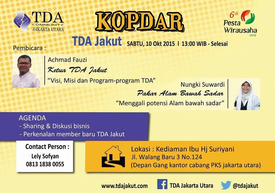 10 Oktober 2015 Kopdar dan Diskusi Bisnis – TDA Jakarta Utara Forum