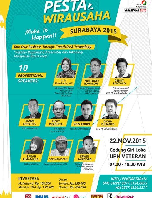 22 November 2015 Pesta Wirausaha Surabaya – TDA Surabaya