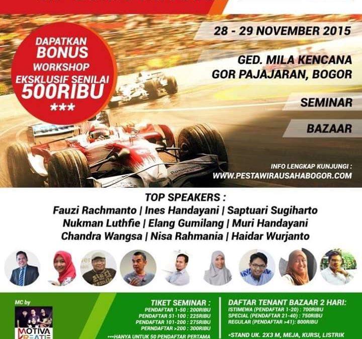 28 – 29 November 2015 Pesta Wirausaha Bogor – TDA Bogor
