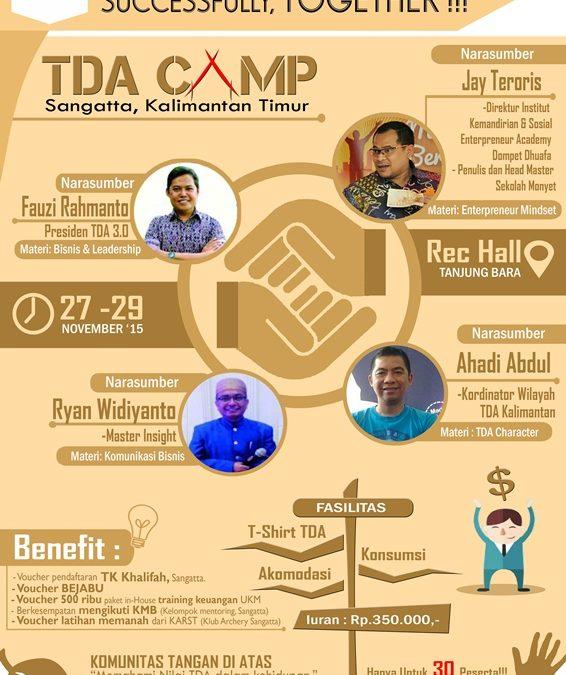27 – 29 November 2015 TDA Sangatta Camp