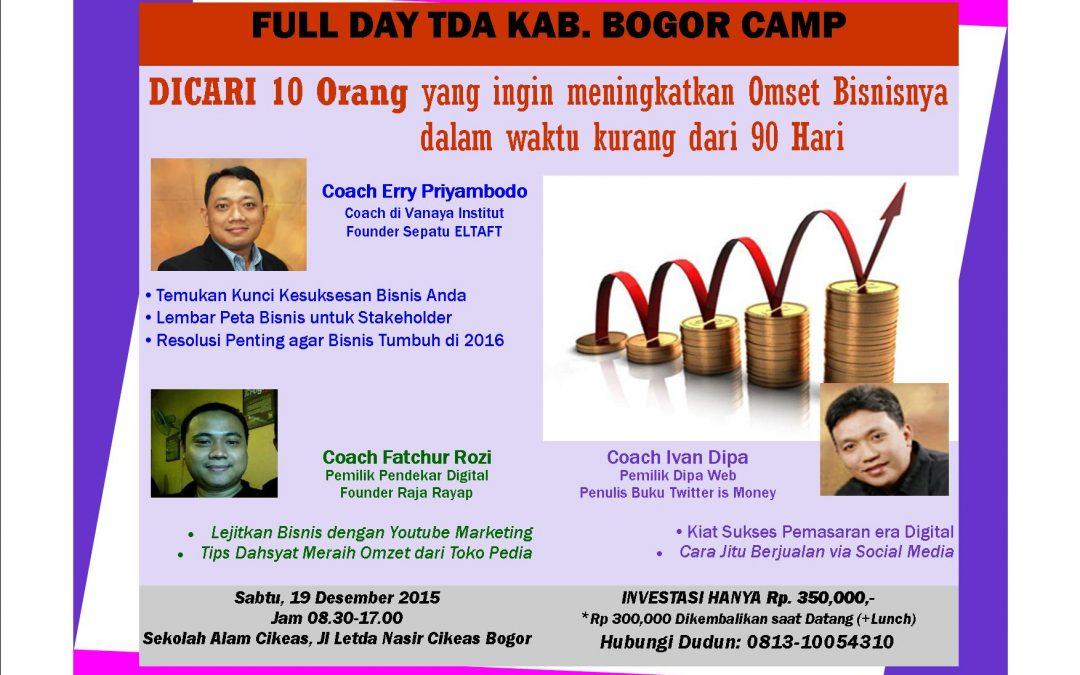 19 Desember 2015 TDA Camp Kab. Bogor