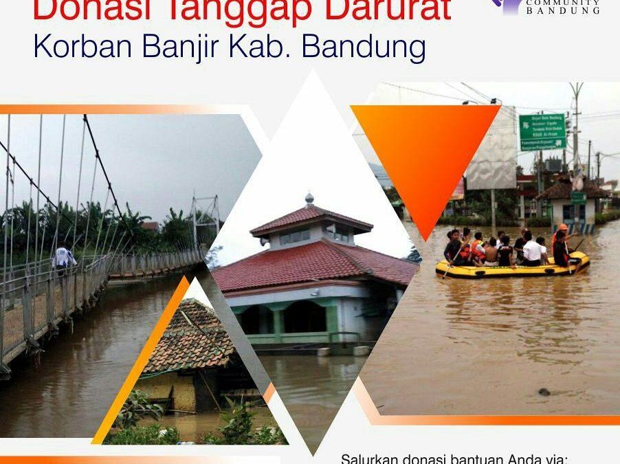 Donasi Tanggap Darurat Korban Banjir Kab. Bandung – TDA Bandung Peduli