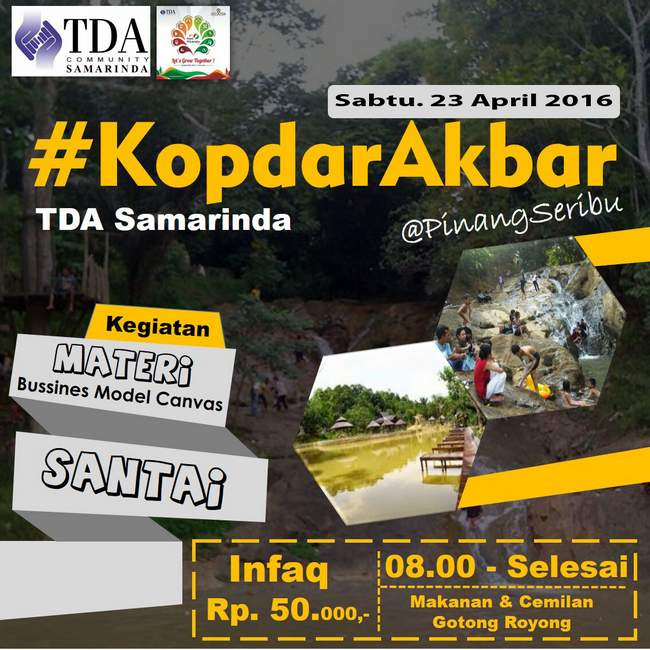 23 April 2016 Kopdar Akbar dan Bincang Business Model Canvas – TDA Samarinda Forum