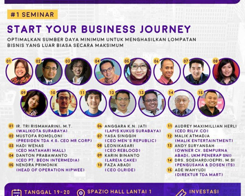 Pesta Wirausaha Surabaya 2016 'Start Your Business Journey' – PW TDA Surabaya (19 – 20 November 2016)
