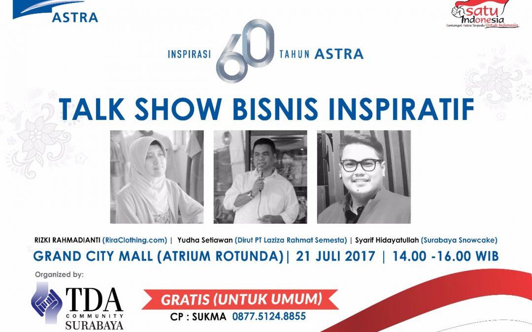"HUT Astra Ke-60  ""Inspirasi 60 Tahun ASTRA"" – TDA Surabaya"