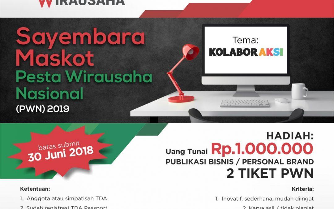 Sayembara Desain Maskot Pesta Wirausaha TDA 2019