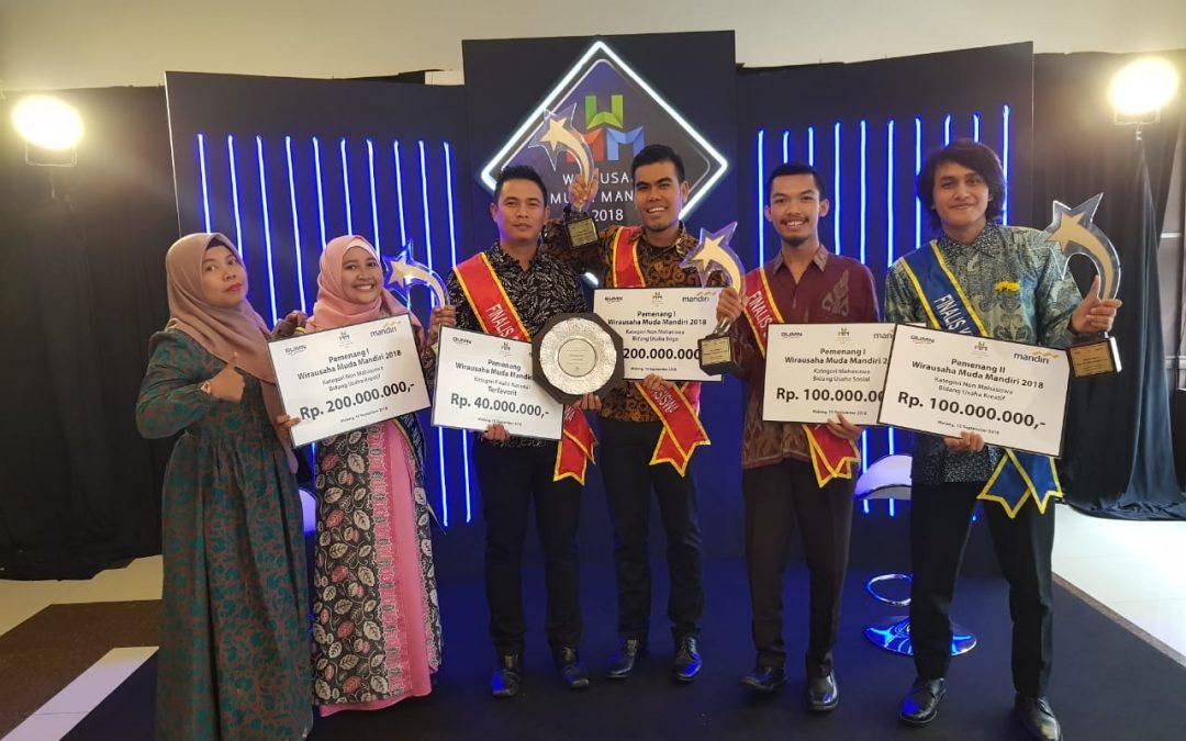 Delegasi Komunitas Tangan Di Atas (TDA) Panen Gelar Juara Di Wirausaha Muda Mandiri 2018.