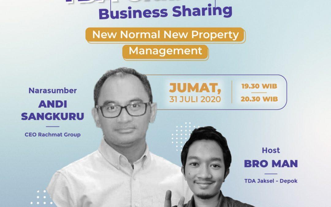 """TDA Club BuSer """"New Normal New Property Management"""" bersama Andi Sangkuru"""